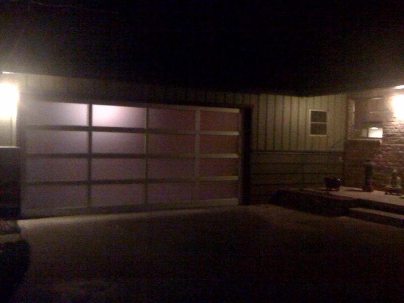 Alumaview At Night Garage Doors Residential Garage