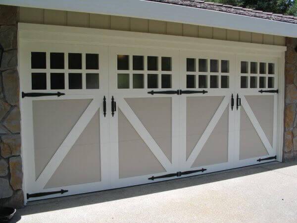 paint grade wood carriage garage doors