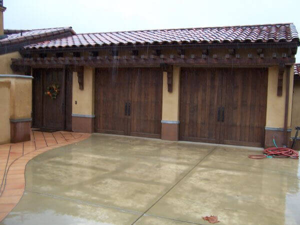Stain Grade Wood Carriage Garage Doors