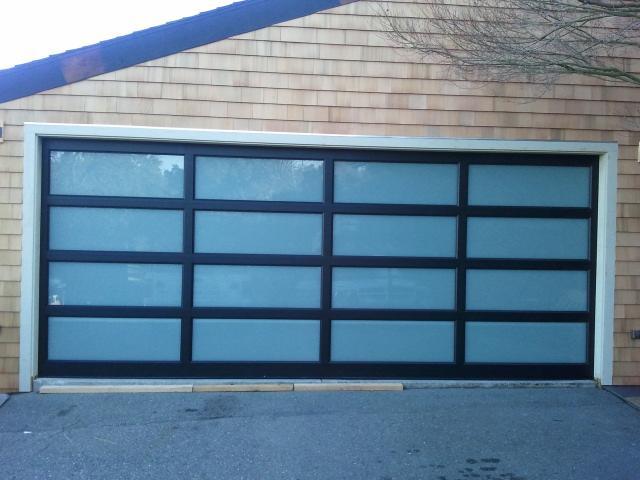 Modern White Garage Door modern / contemporary garage door design and installation - madden