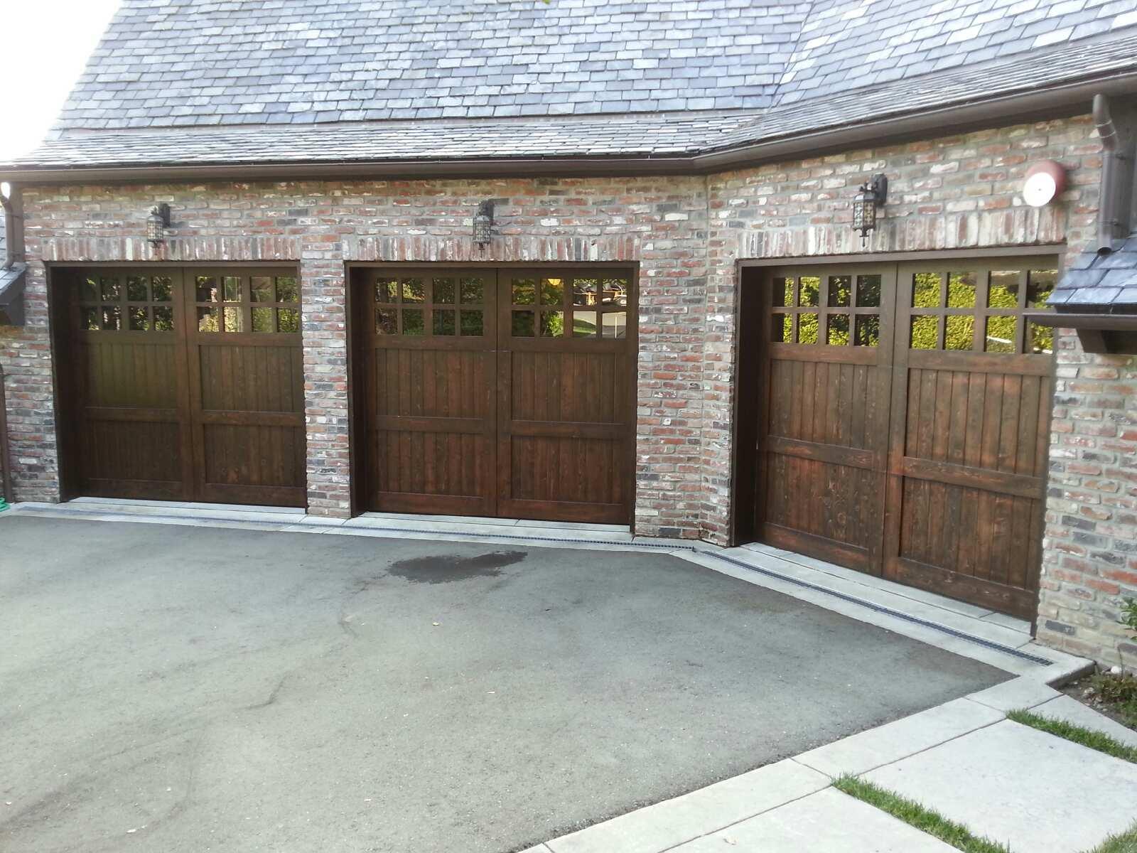 Custom Stain Grade Garage Doors Selections Madden Door
