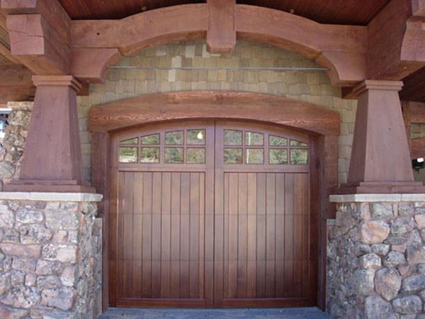 Custom Stain Grade Garage Doors Selections