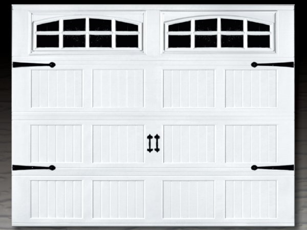 Affordable Steel Stamped Overlay Carriage Garage Doors