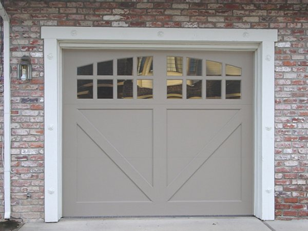 Custom Paint Grade Garage Door2. 3000A Wood Carriage Door Half Buck In  Lafayette