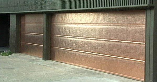 Distinctive copper garage doors from the bay area experts for Bay area garage doors
